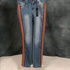 NEW Dollhouse Athletic Stripe Skinny Jeans sz 9